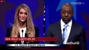 WATCH LIVE Raphael Warnock and Kelly Loeffler Georgia Senate debate Still